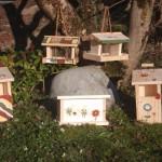 Halbhöhlenbrüter Vogelfutterhäuschen Hummelhäuschen