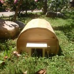 Igelhäuschen aus massivem Holz, 50x40cm!